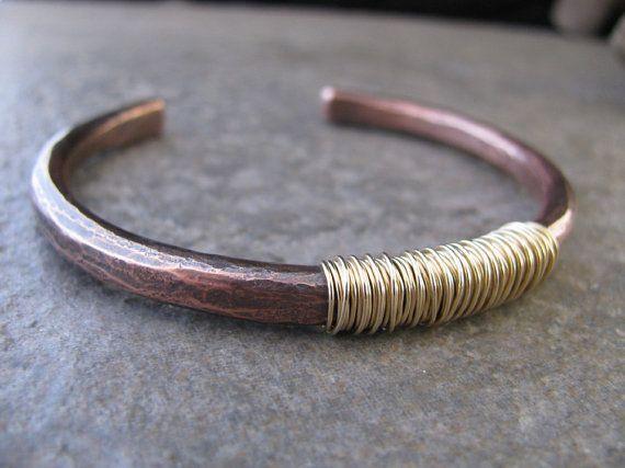 Mens Copper Cuff Bracelet by TammysTreasureChest on Etsy