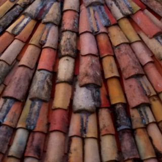 Rooftop in Dubrovnik #texture #roof #slate -- after Dubrovnik was shelled a lot of the pink tiles were sent in from Toulouse.