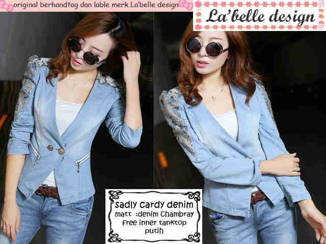 READY sadly cardy denim 2pc@64 1pc@79  matt denim chambray free inner tanktop white