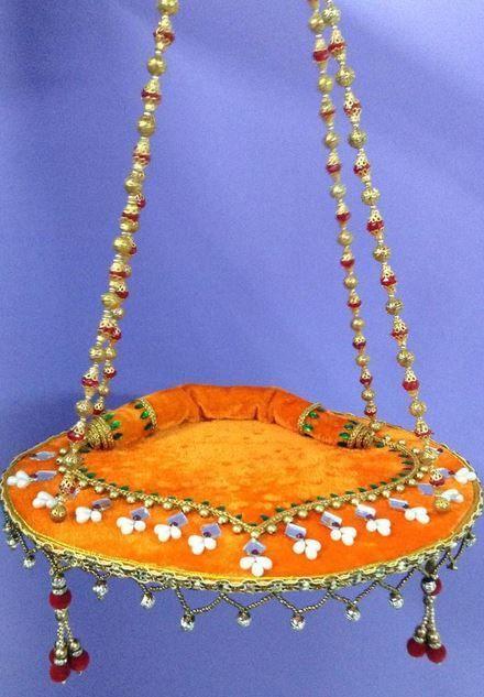 Krishna Jhula Design - Janmashtami Decoration Ideas super sweet soft padded version of Janmastami swing