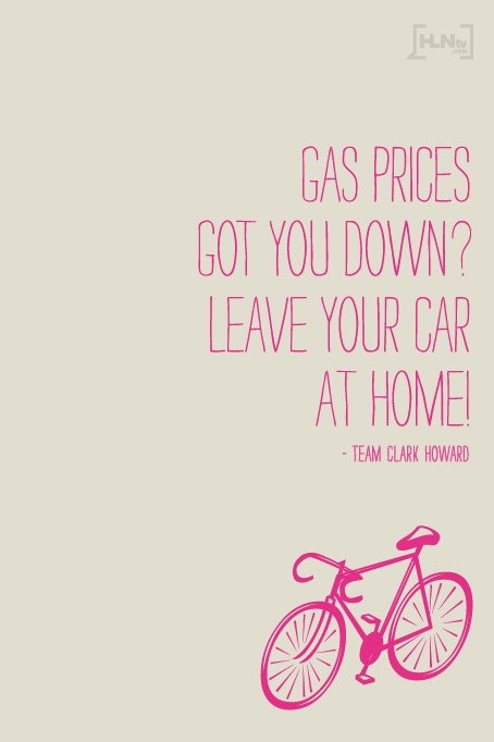 With gas prices going up, some commuters are finding other ways to get to work. #Money #Tips: Clarks Howard, Gas Price, Howard Money Sav, Money Save, To Work, Cartoons N, Money Tips, N Images