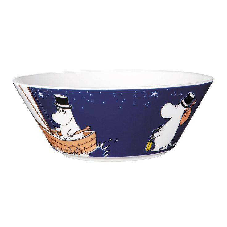 Moomin Bowl Moominpappa, Dark Blue - Tove Slotte-Elevant - Arabia - RoyalDesign.com