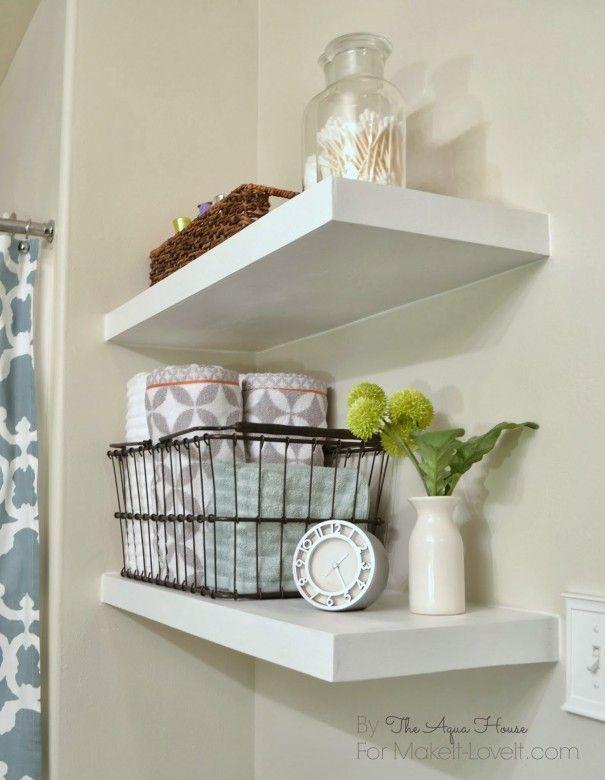 7 Astounding Cool Ideas: Floating Shelves Bathroom Grey floating shelf nightstan…   – Floating Shelf
