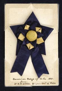 Secession badge from South Carolina