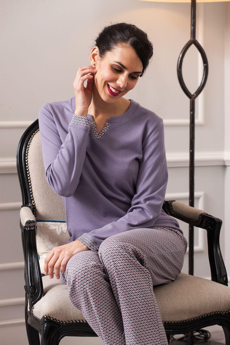 Dusty mallow color tone pijama. Fall/Winter 2017/18 sleepwear woman collection.