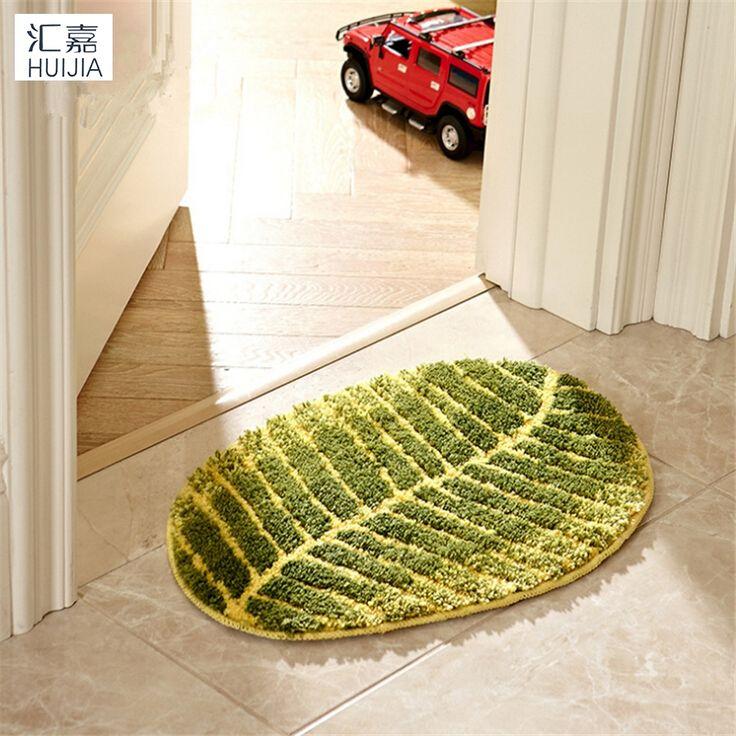 Leaf Shape Floor Mat Non-Slip Bathroom Mat Soft Rug And Carpet For Living Room Kitchen High Quality Door Mat Colchoneta Piscina