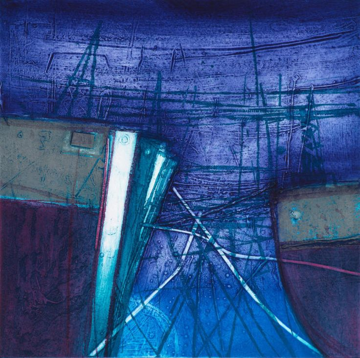 101 Rae Barbara Winter Harbour Aberdeen Scotland Collagraph 2015 59X59