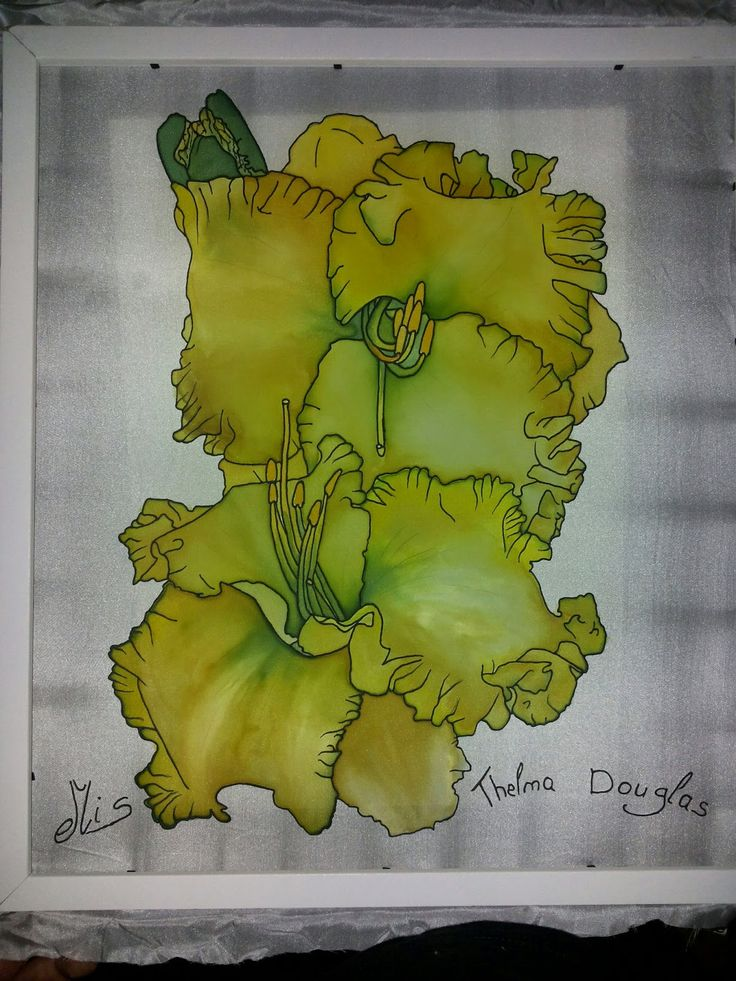 Daylily on Silk by my young Lithuanian friend, Edvenis, He has come a very long way since beginning this art for about a year ago.
