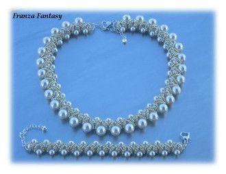 Tutorial Lady Godiva - Franza Fantasy * 30 perle da 10 mm * 140 perle da 6 mm * rocailles 11/0 * rocailles 15/0