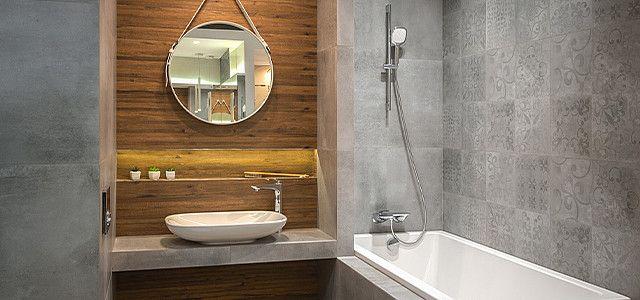 Mala Lazienka Wielki Efekt Wyposazenie Wnetrz Maxfliz Round Mirror Bathroom Bathroom Mirror Decor
