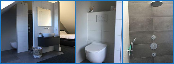 Bijzondere wensen komen ook altijd voorbij. Zo ook bij deze badkamer welke op zolder is geïnstalleerd. Een badkamer 'en suite'. Staat dit ook op jouw wensenlijstje? #tuijp #volendam #purmerend #badkamers #ensuite