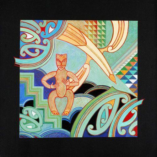 Māui — The Seeker (2009) by Sandy Adsett, Māori artist (KX90713)