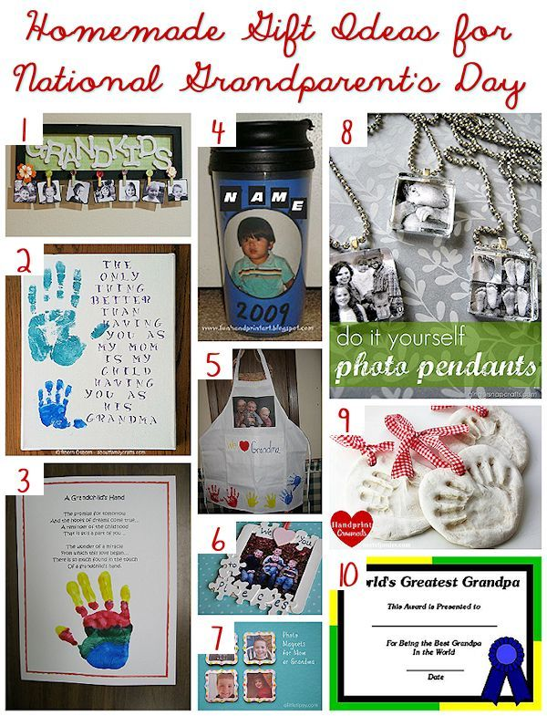 homemade gifts for national grandparents day