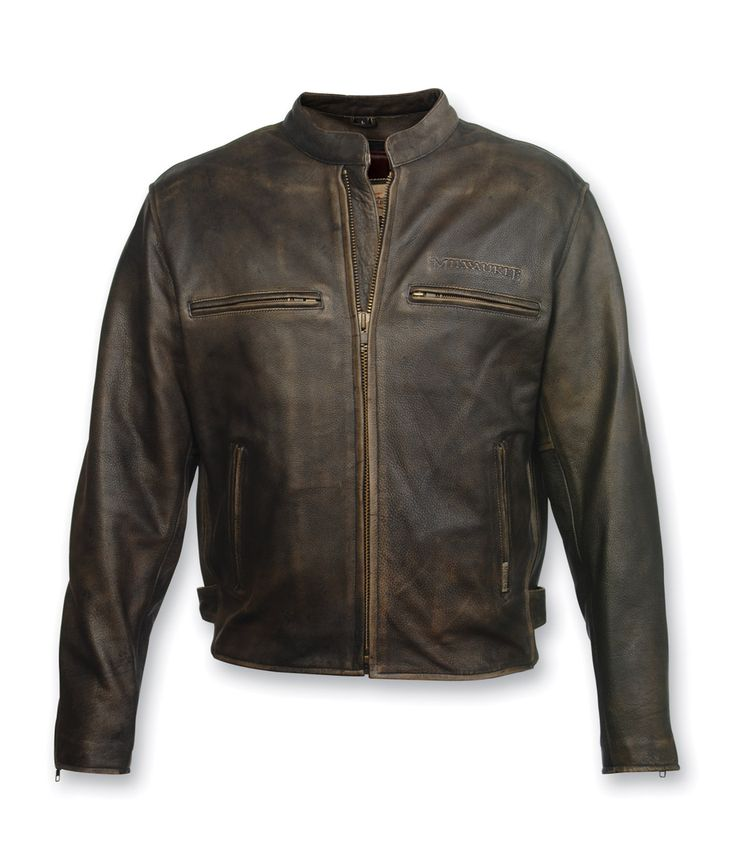 Milwaukee Motorcycle Clothing Co. Crazy Horse Brown Leather Jacket | 120-526