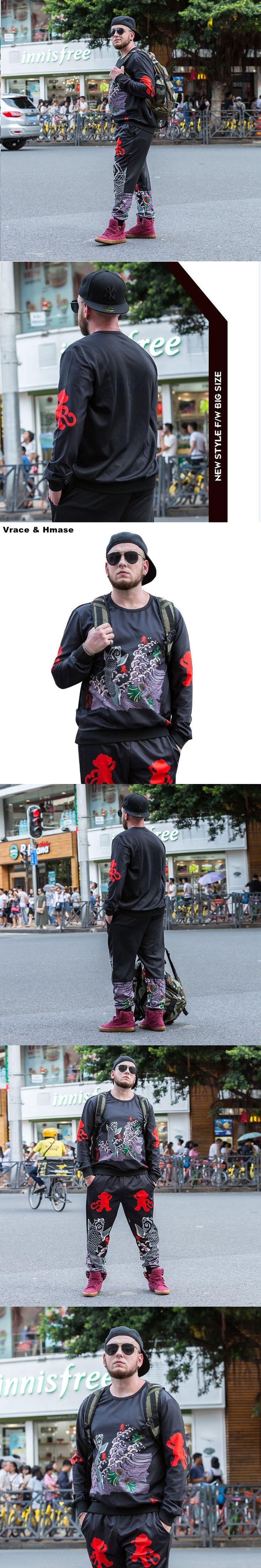 Chinese style cartoon monkey printing fashion oversized sweatshirt Autumn&Winter 2017 New top quality warm sweatshirt men XL-6XL