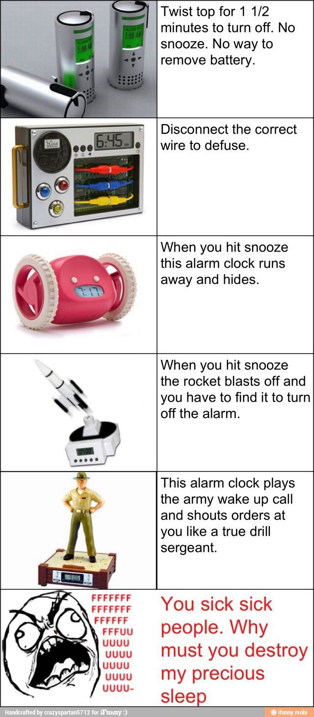30 best awesome and weird alarm clocks images on for Amazing alarm clocks