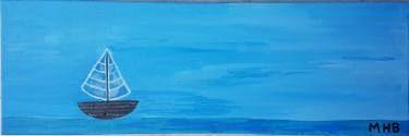"Saatchi Art Artist Maria Hage-Boutros; Painting, ""Sail, Sail Away"" #art"