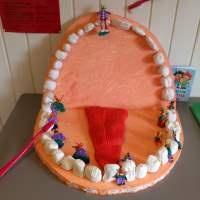 Karius og Baktus - should be life sized, so the kids can crawl through Jens' mouth
