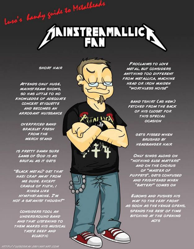 Ways to piss off a metalhead