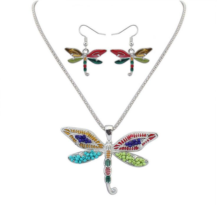Find More Jewelry Sets Information about SNASAN Enamel wing Dragonfly animail Jewelry Set silver statement Necklace Earings eardrop Set For Women Gothic style,High Quality jewelry set silver,China set for women Suppliers, Cheap style set from SNASAN Retail Store on Aliexpress.com