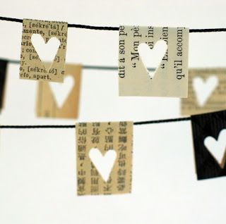 beautiful paper heart banner by CoriKindred on Etsy