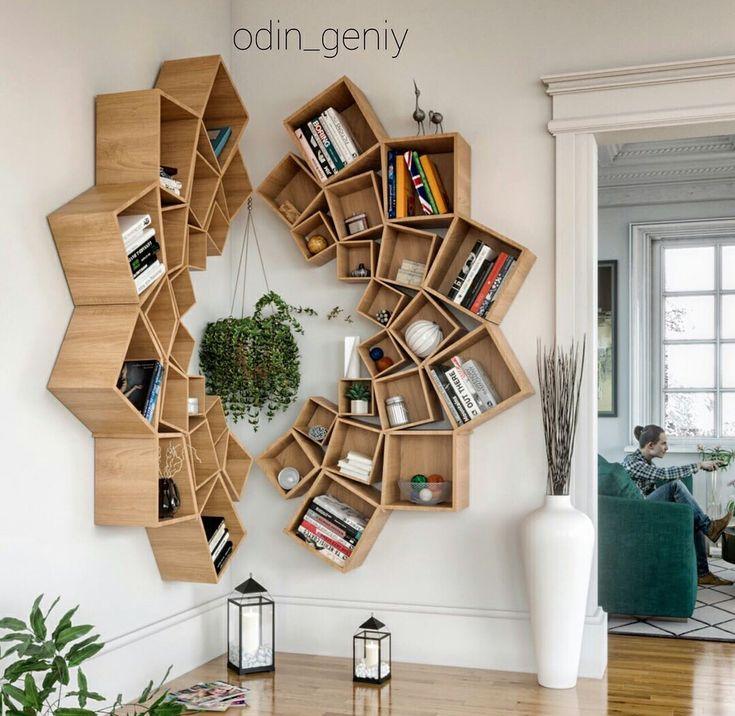 Une place ingénieuse pour cette bibliothèque originale