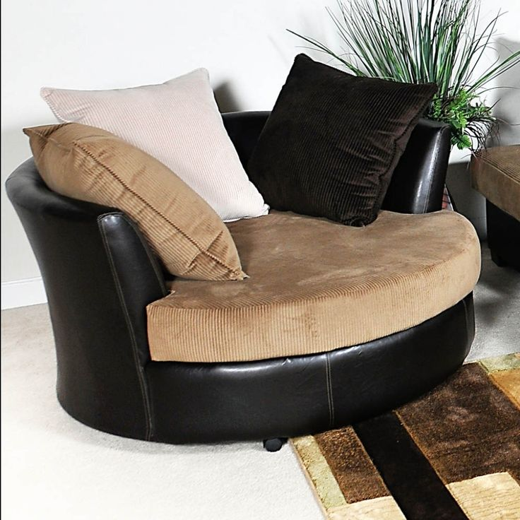 Living Room: Unique Custom Swivel Chairs For Living Room Beside Lamp Shade On Brown Wood Nightstand Above Laminate Wood Flooring Around White Painted Wall Interior Decor from 18 Great Designs Swivel Chairs for Living Room Ideas