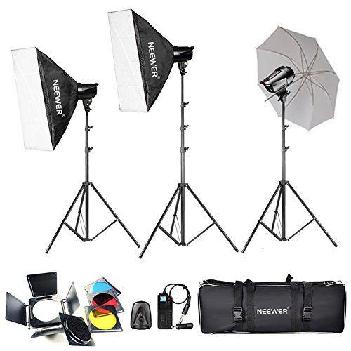 Neewer® 540W (180W x 3) Professionelle Fotografie Studioblitz-Stroboskop-Beleuchtung-Installationssatz für die Portraitfotografie, Studio und Video Shoots (T-180B) - http://kameras-kaufen.de/neewer/neewer-540w-180w-x-3-professionelle-fotografie-t