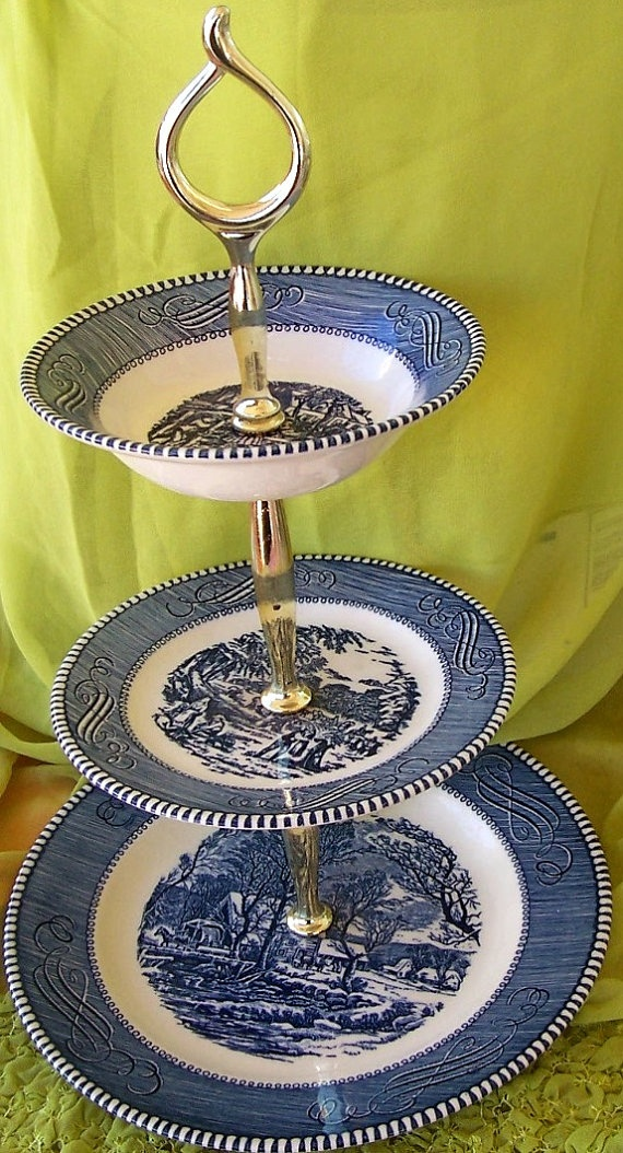 VINTAGE Currier and Ives 3 Tiered Serving by WHISTLESTOPTRAINSHOP $35.00 & 46 best collect me: currier u0026 ives dishes (Royal USA) images on ...