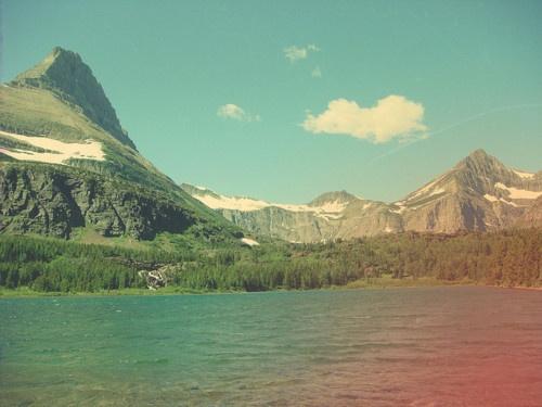 mountains, vintage filter
