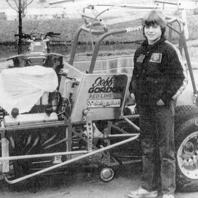 """#TBT In honor of the man Jeff Gordon who at age 15 could wheel a sprint car with the best of them. Enjoy your retirement and come play in the dirt with us…"""