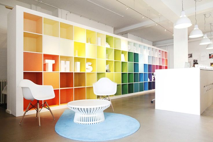 Colourful office | Colour interior | Style with colour | Office inspiration  | Office design | Home office colour | Dream office | Office headquarters