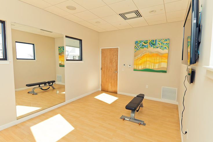 Radius Apartments has a yoga room equipped with a HD TV and BluRay player www.RadiusApartments.com