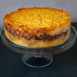 Roasted Squash and Polenta Torta with Red Onion Marmalade -- How does ...