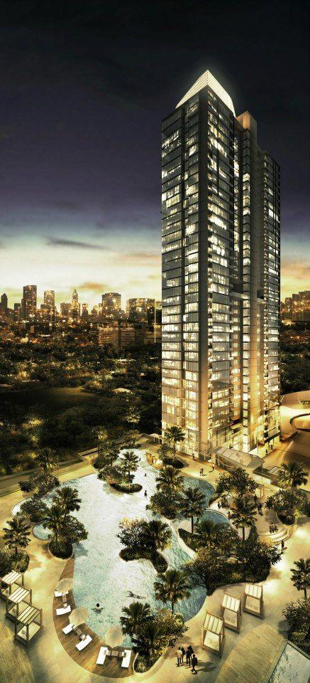 The Ritz-Carlton Jakarta, Mega Kuningan, Jakarta, Indonesia by Smallwood, Reynolds, Stewart, Stewart Architects :: 48 floors, height 212m