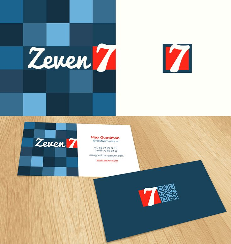Zeven #logo and #businesscard design with #qrcode | #brandrocket