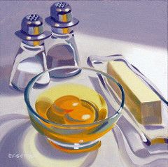 """""""Eggs and Butter"""" sold (Leigh-Anne Eagerton, painting) Tags: life portrait stilllife food house dice cup kitchen cookies birds fruit buildings garden painting insect skull still doll candy contemporary paintings olive martini drinks alcohol oil eggs movies apples firehouse recent oilpainting realism glasspainting applepainting skullpainting zinniapainting christmaspainting kitchenpainting shoepainting cherrypainting fruitpainting candypainting peonypainting eggspainting tomatopaint..."""