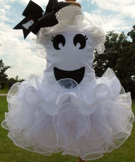 Halloween Ghost Pageant Wear 5 piece Set by donnysdoll on Etsy, $125.00