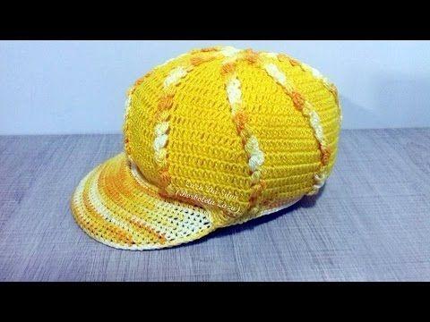 Boina de Croche Burguesinha - Aprendendo Crochê - YouTube