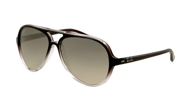 Ray Ban RB4125 Cats Sunglasses Brown Frame Gray Gradient Lens