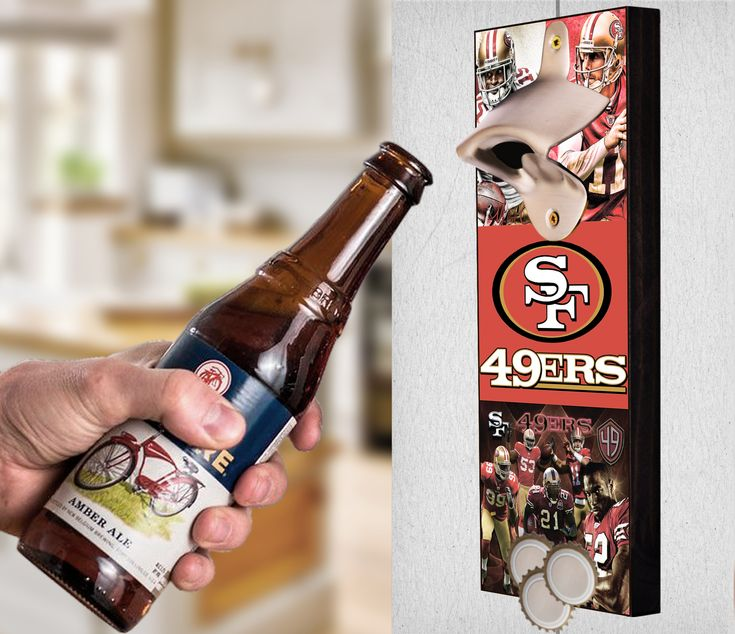 This San Francisco 49ers bottle opener can be a great gift to any sports fan. It's the perfect addition to any man cave, bar area, kitchen, or to just put out while watching the big game. It is also a great groomsmen gift. San Francisco 49ers Wall Mount Bottle Opener San Francisco 49ers Cap Catcher San Francisco 49ers Wall Opener San Francisco 49ers Beer Opener San Francisco 49ers Wall Art San Francisco 49ers Craft San Francisco 49ers Decor San Francisco 49ers Gift San Francisco 49ers Diy