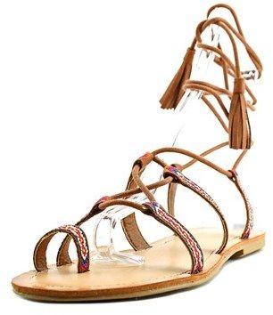 Madden-Girl Saz Women Open Toe Canvas Brown Gladiator Sandal.
