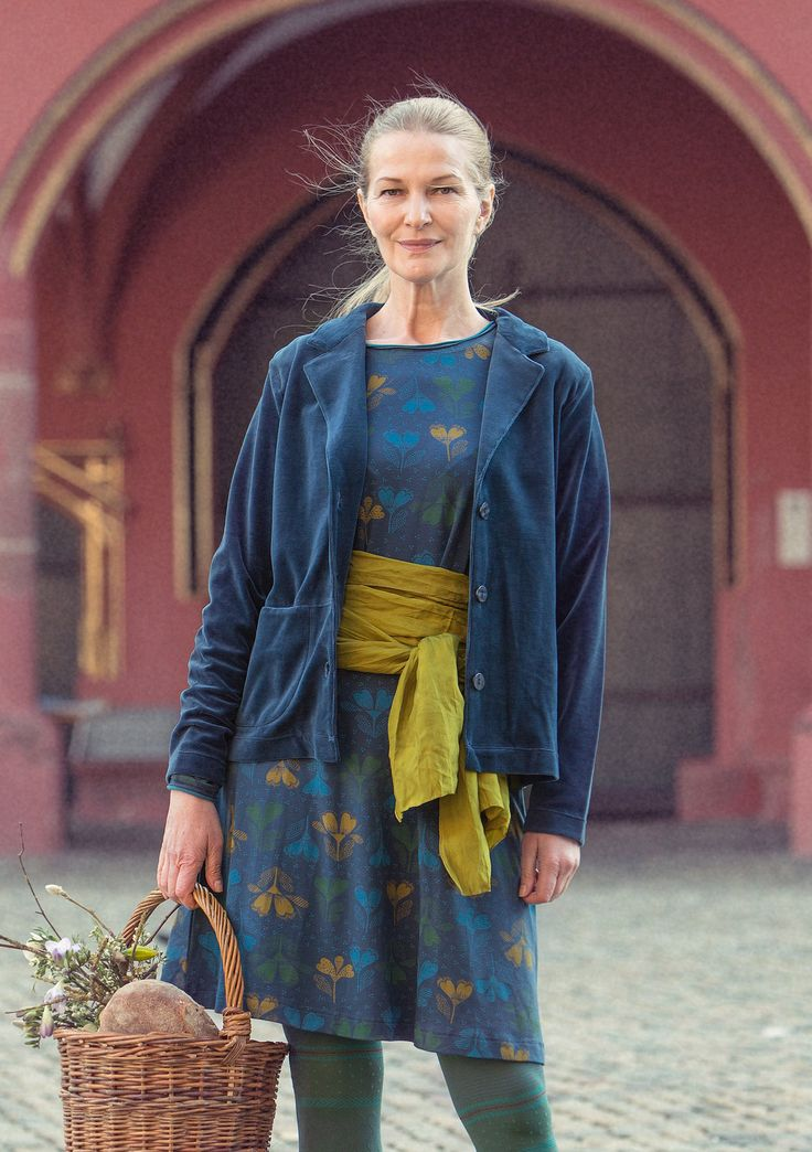 Velour jacket in eco-cotton/polyester – Velour in Freiburg – GUDRUN SJÖDÉN – Webshop, mail order and boutiques   Colorful clothes and home textiles in natural materials.
