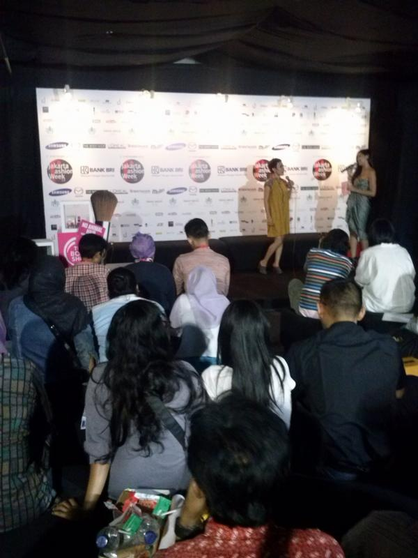 "Press conference about our collaboration with Lenny Agustin at JFW for her show ""Paper Garden"""