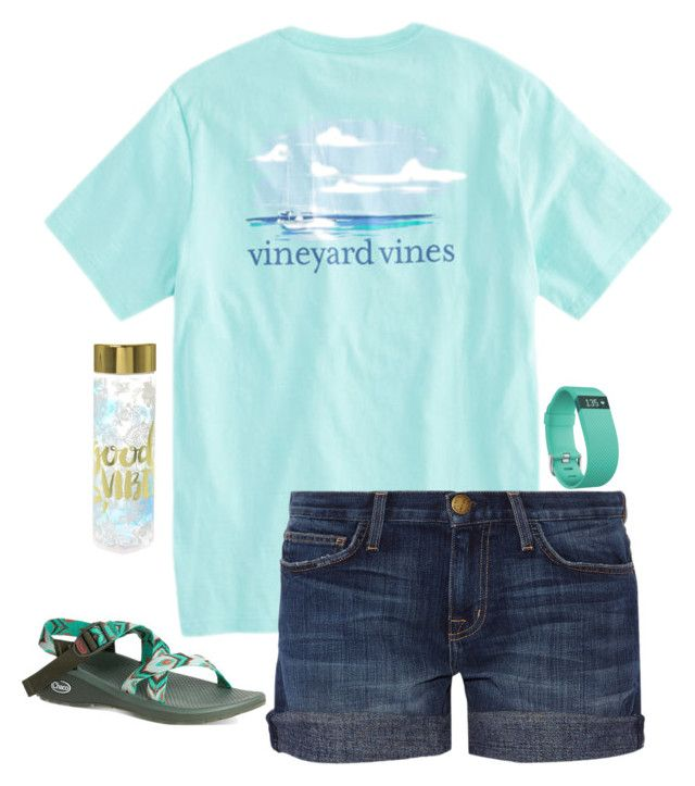 """""""What's your favorite color?"""" by livimay ❤ liked on Polyvore featuring Fitbit, Current/Elliott and Chaco"""