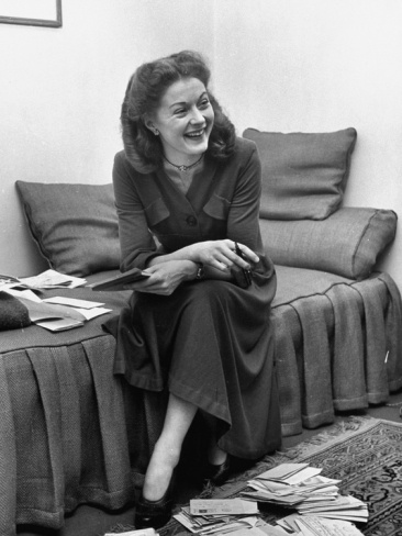 Dancer Moira Shearer, Who Plays Cinderella in a Ballet, Enjoying a Laugh on Her Day Off