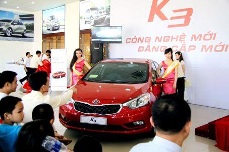 Tại Biên Hòa đã ra mắt mẫu xe Kia K3
