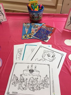 FREE PRINTABLE COLORING PAGES - Paw Patrol Birthday Party