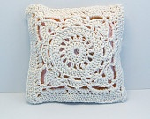Lavender Scented Crochet Pillow