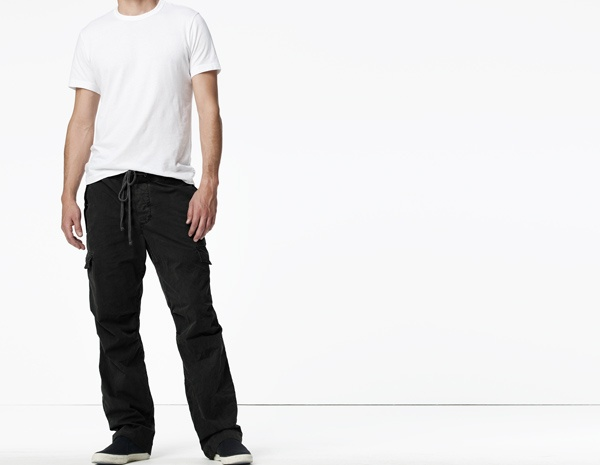 James Perse Contrast Waist Fatigue Pant